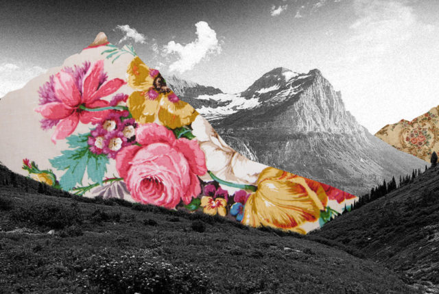 Guy Catling colorful collages mountain