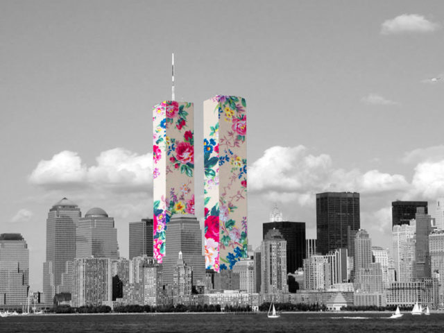 Guy Catling colorful collages twin towers