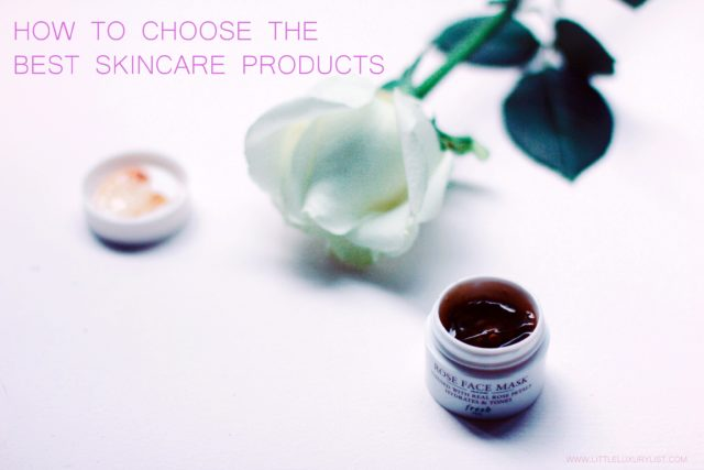 How to choose the best skincare products rose face mask