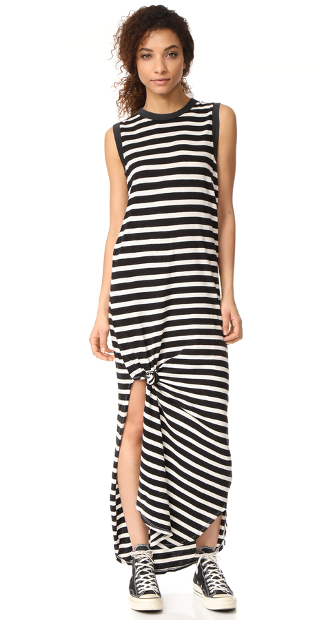 The great sleeveless knotted tank dress