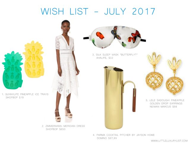 Wish list - July 2017