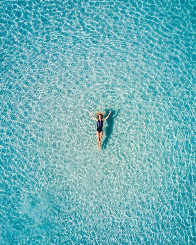 Aerial pictures of South Australia by Mr. Bo lone swimmer