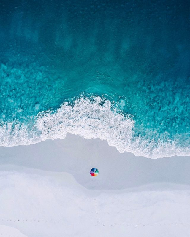 Aerial pictures of South Australia by Mr. Bo seaside and umbrella