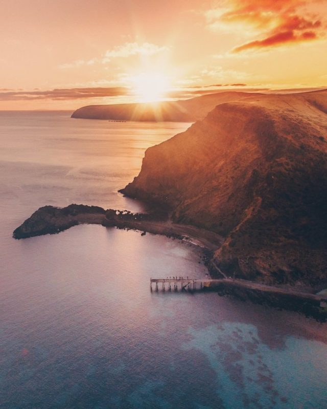 Aerial pictures of South Australia by Mr. Bo sunset