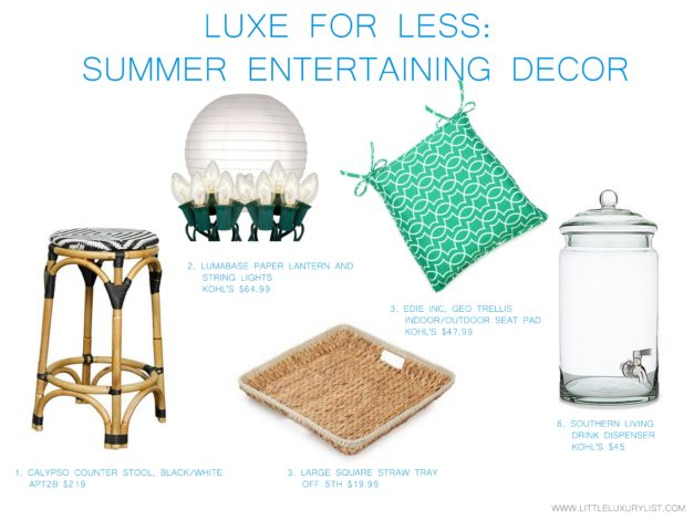Luxe for less - labor day and summer entertaining decor