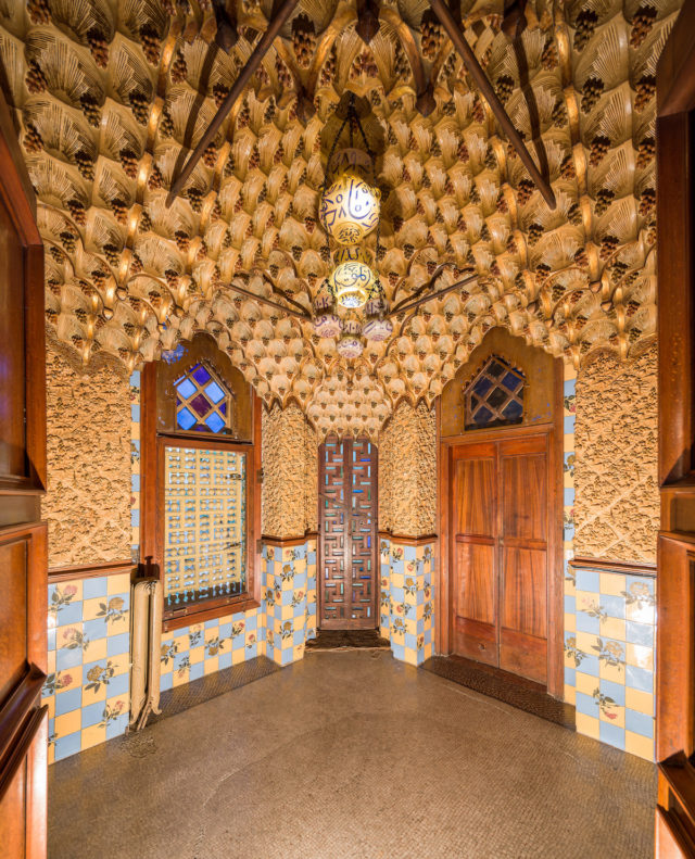 Gaudi home in Barcelona - Casa Vicens doors detail by Pol Viladoms