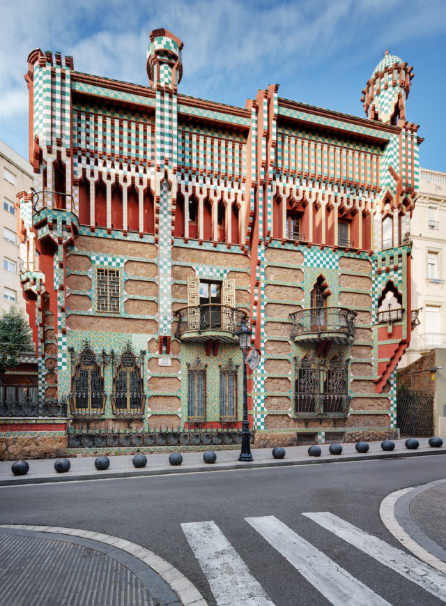 Gaudi home in Barcelona - Casa Vicens front