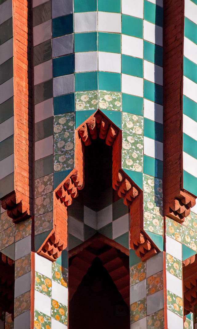 Gaudi home in Barcelona - Casa Vicens tower detail