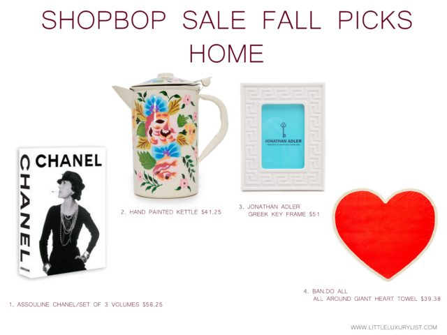 Getting ready for fall with the Shopbop sale - Home picks