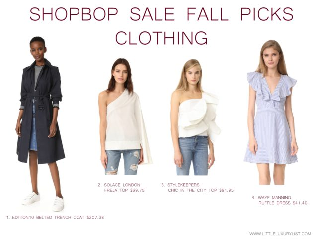 Getting ready for fall with the Shopbop sale clothing picks