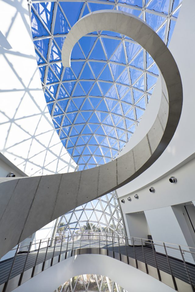 Salvador Dali museum designed by HOK looking out