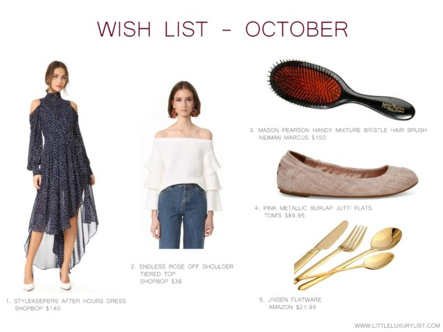 Wish List - October by little luxury list