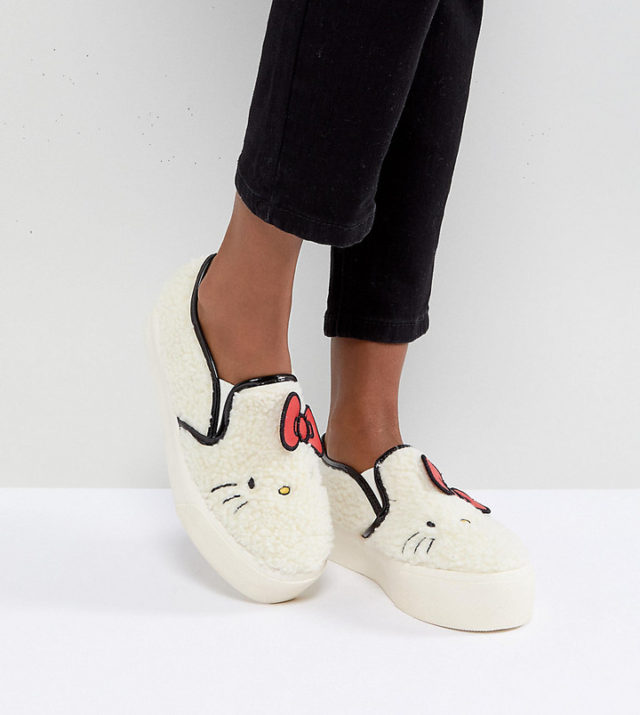 Hello Kitty x ASOS Borg Sneaker with Embroidery detail