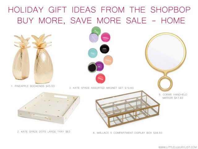 Holiday gift ideas from the Shopbop buy more, save more sale - home