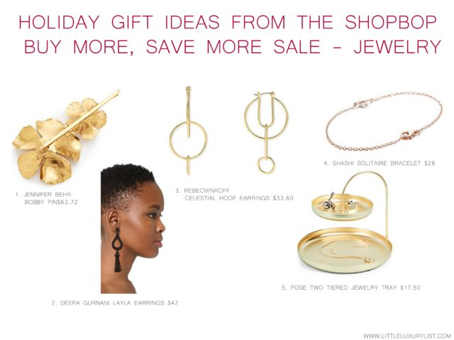 Holiday gift ideas from the buy more save more sale, jewelry