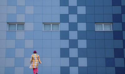 Helena Georgiou Geometric Street Photography blue wall