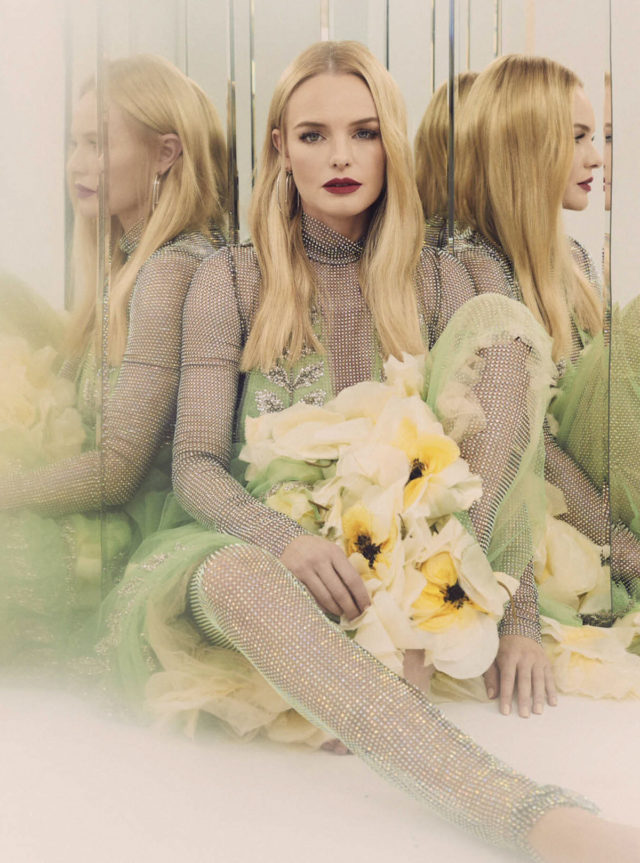 Kate Bosworth in Glamour Mexico November 2017 crystal dress