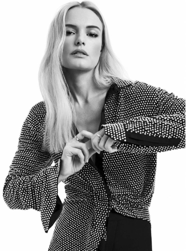 Kate Bosworth in Glamour Mexico November 2017 studded top