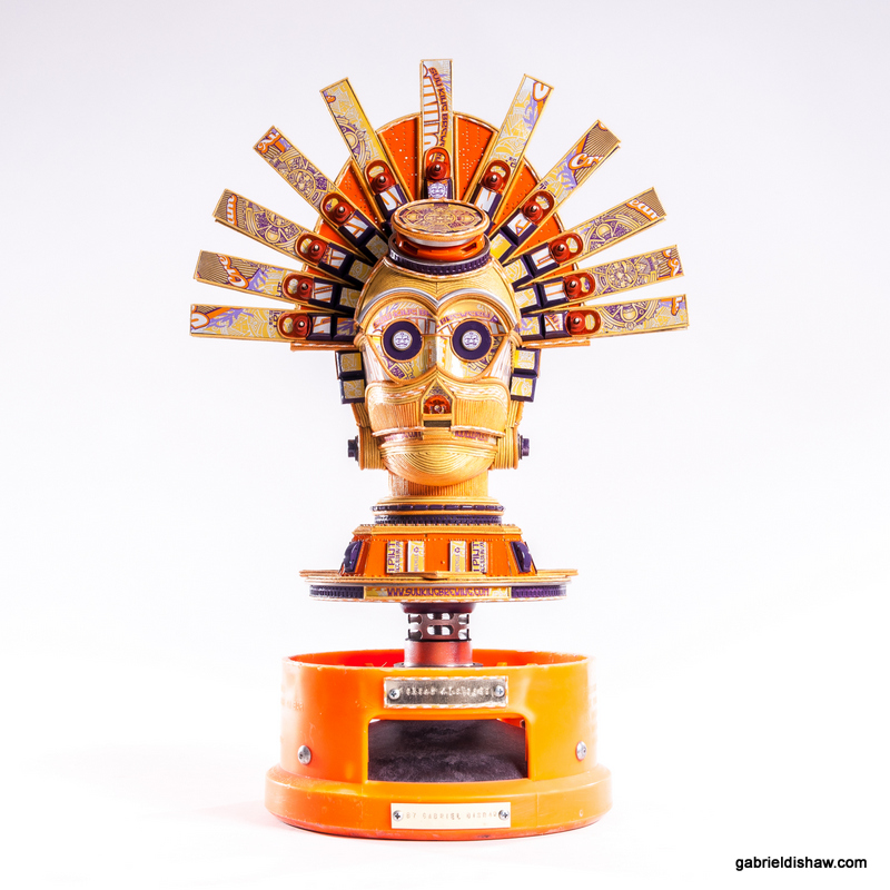 Louis Vuitton Star Wars sculptures by Gabriel Dishaw - C3PO queen