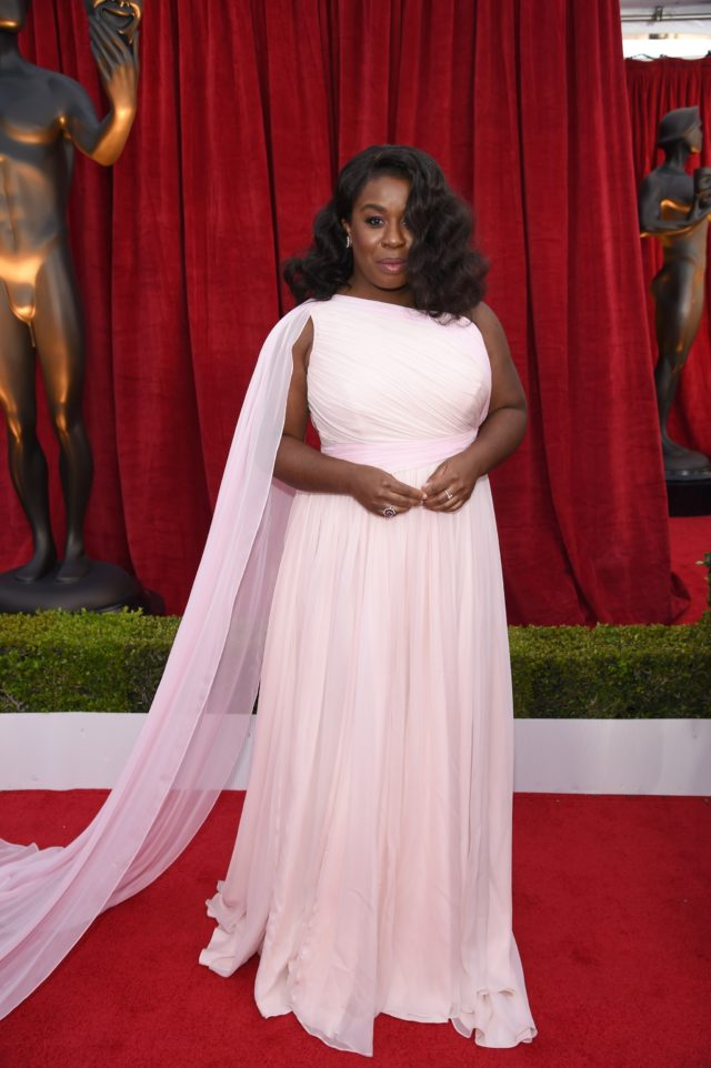 Pink gowns at the SAG Awards 2018 - Uzo Aduba in Christian Siriano